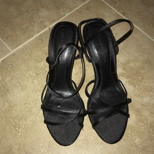 Zara black strappy heel sandal